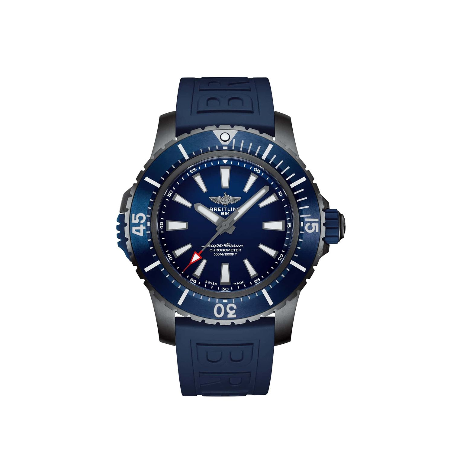 Breitling Superocean Men's Blue Rubber Strap Watch - Product number 4580095