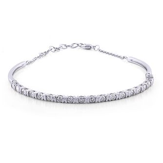 Silver Diamond Illusion-Set Bracelet - Product number 4580125