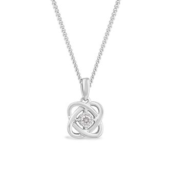 Centre of Me 9ct White Gold Diamond Swirl Pendant - Product number 4580192