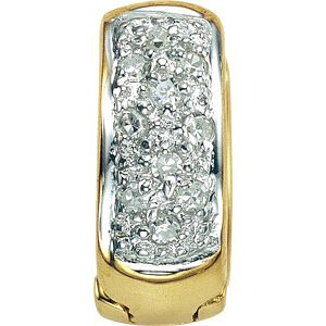 9ct Gold Diamond Set Single Earring - Product number 4580974