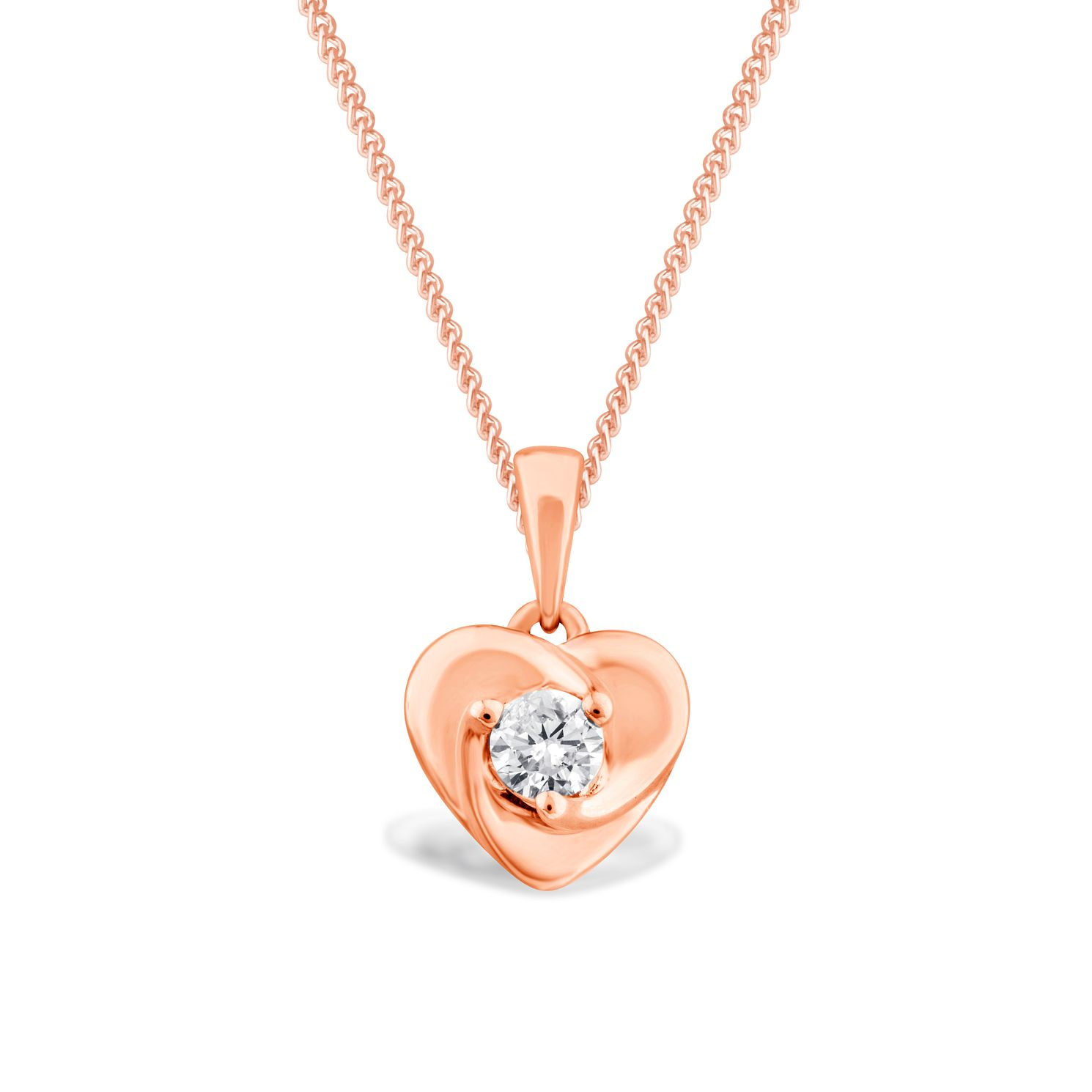 Centre of Me 9ct Rose Gold 0.13ct Diamond Pendant - Product number 4582640
