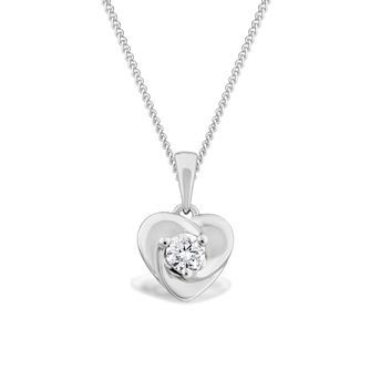 Centre of Me 9ct White Gold 0.13ct Diamond Pendant - Product number 4582659
