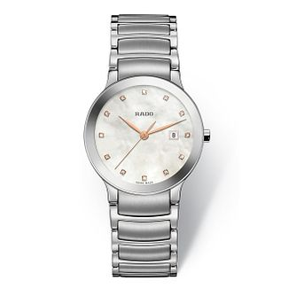 Rado Centrix Diamond Ladies' Stainless Steel Bracelet Watch - Product number 4583035