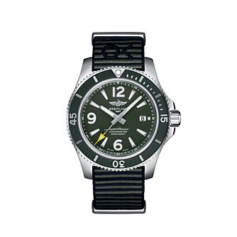 Breitling Superocean Outerknown Men's Green Strap Watch - Product number 4583558