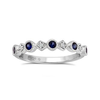 Emmy London Platinum Sapphire & Diamond Ring - Product number 4584775