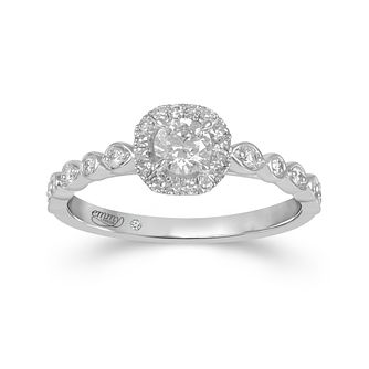 Emmy London Platinum 0.40ct Diamond Halo Ring - Product number 4585046