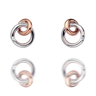 Hot Diamonds Sterling Silver & Gold Tone Eternal Earrings - Product number 4587030