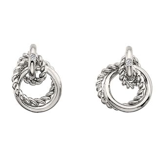 23c667393 Hot Diamonds Sterling Silver Interlocking Hoop Earrings - Product number  4587065