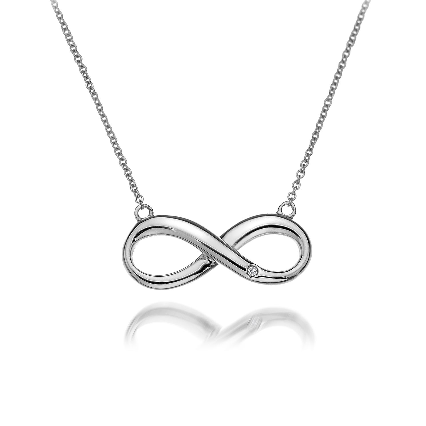 Hot Diamonds Sterling Silver Fresh Infinity Necklace - Product number 4587103