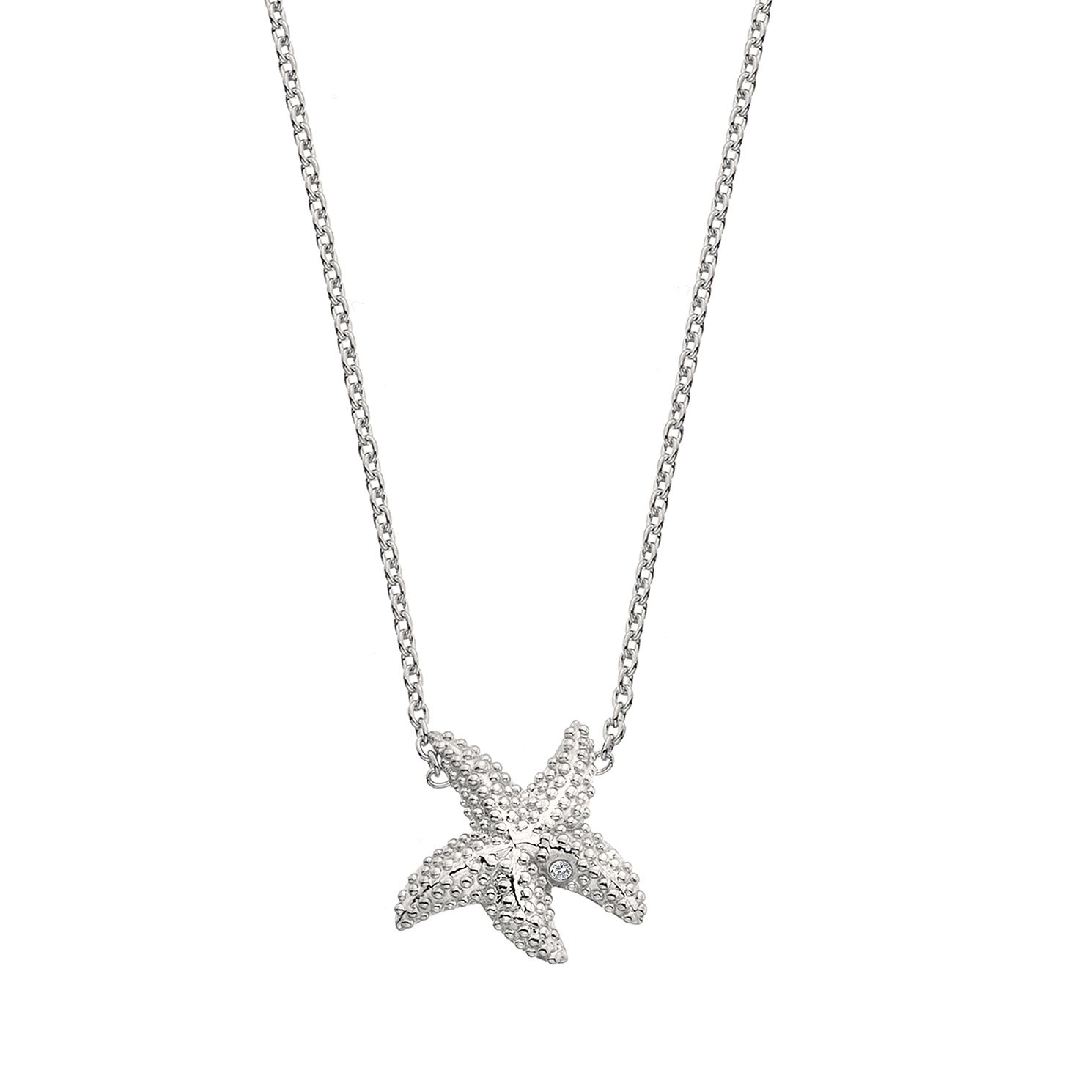 Hot Diamonds Sterling Silver Starfish Necklace - Product number 4587138