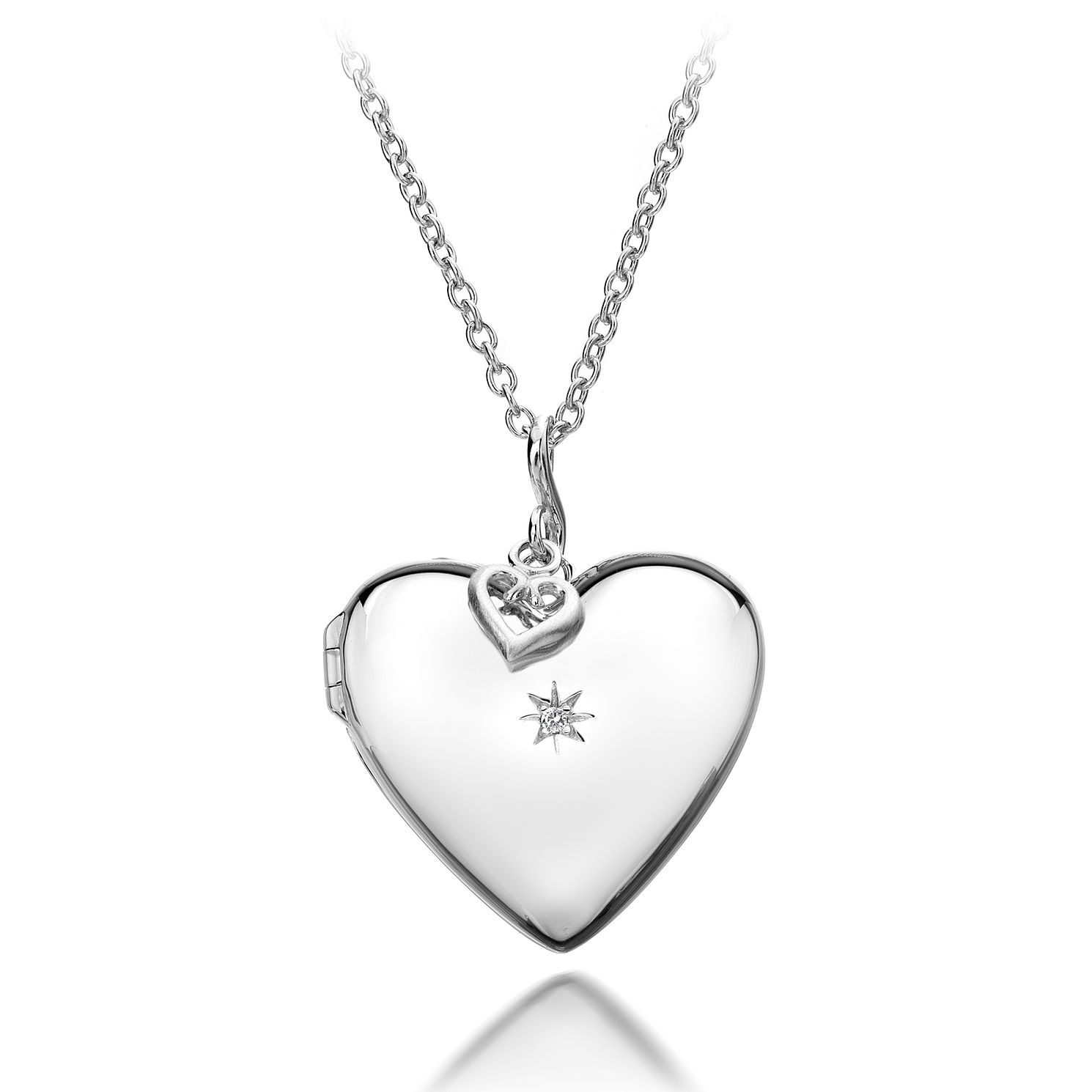 Hot Diamonds Sterling Silver Confident Heart Locket - Product number 4587146