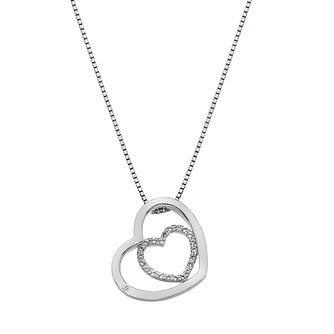 Hot Diamonds Sterling Silver Adorable Encased Hearts Pendant - Product number 4587316