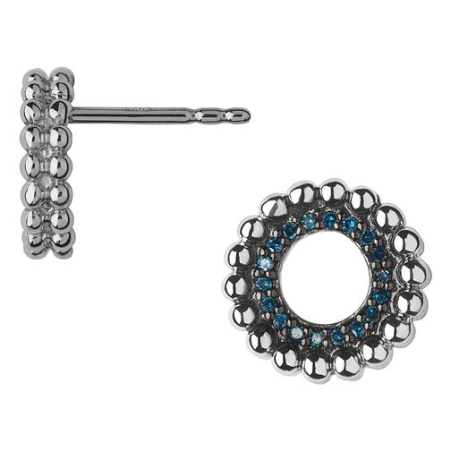 Links of London Sterling Silver & Blue Diamond Stud Earrings - Product number 4587537