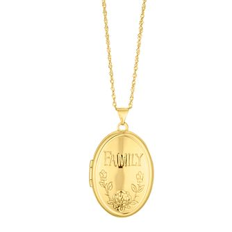 Silver & 9ct Bonded Yellow Gold Oval Family Locket - Product number 4587766