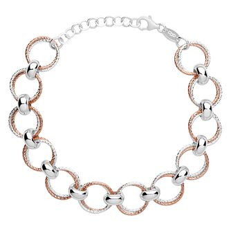 Links of London Aurora Silver & Rose Gold Vermeil Bracelet - Product number 4588320