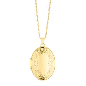 Silver & 9ct Bonded Yellow Gold Oval Locket - Product number 4588401