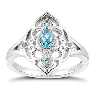 Enchanted Disney Fine Jewelry Diamond Topaz Jasmine Ring - Product number 4590481