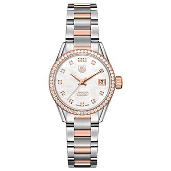TAG Heuer Carrera Diamond Ladies' Two Tone Bracelet Watch - Product number 4590597