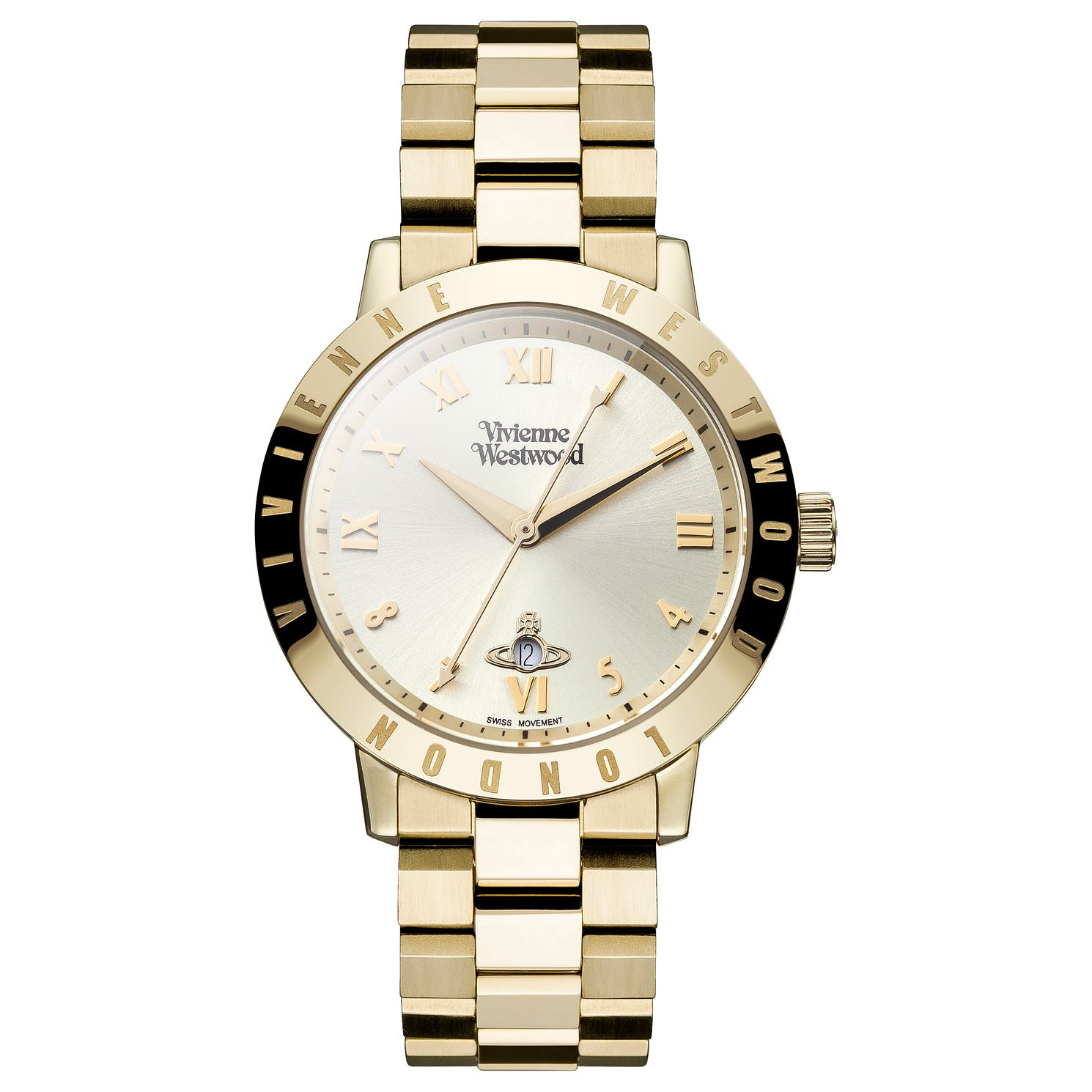 Vivienne Westwood Ladies' Gold Plated Bracelet Watch - Product number 4590678