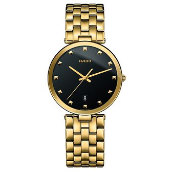 Rado Florence Men's Yellow Gold Toned Bracelet Watch - Product number 4591216