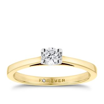18ct Gold 1/4 Carat Forever Diamond Ring - Product number 4597850