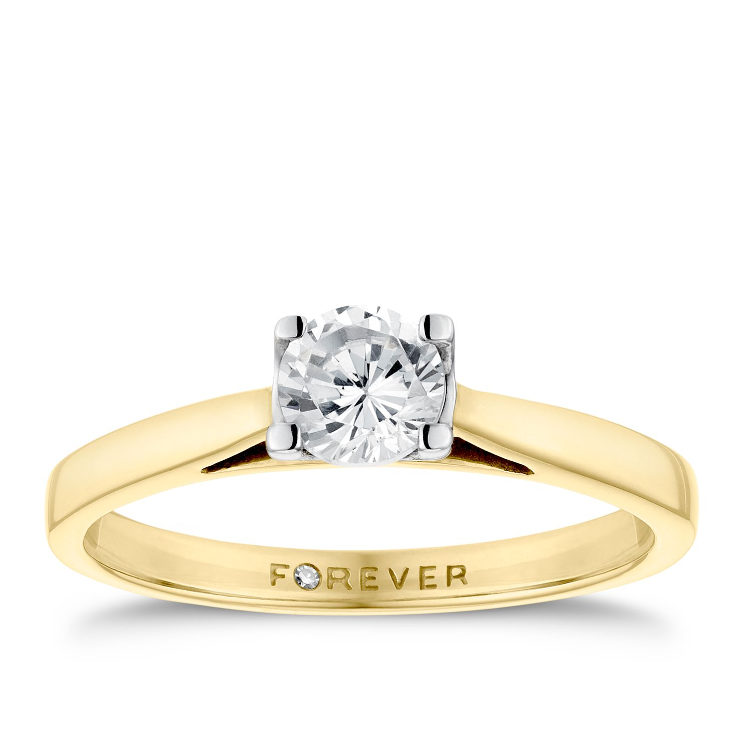 The Forever Diamond 18ct Yellow Gold 0.50ct Ring - Product number 4598113