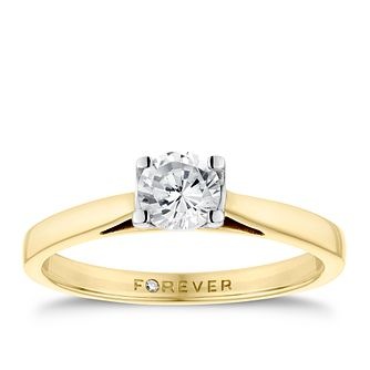 18ct Yellow Gold 1/2 Carat Forever Diamond Ring - Product number 4598113