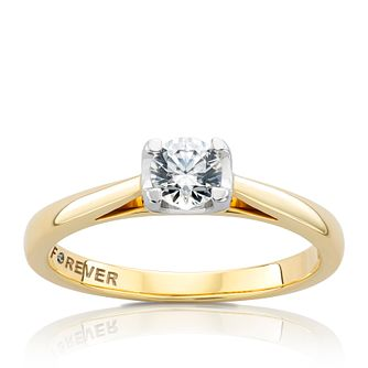 The Forever Diamond 18ct Gold 0.38ct Ring - Product number 4598253