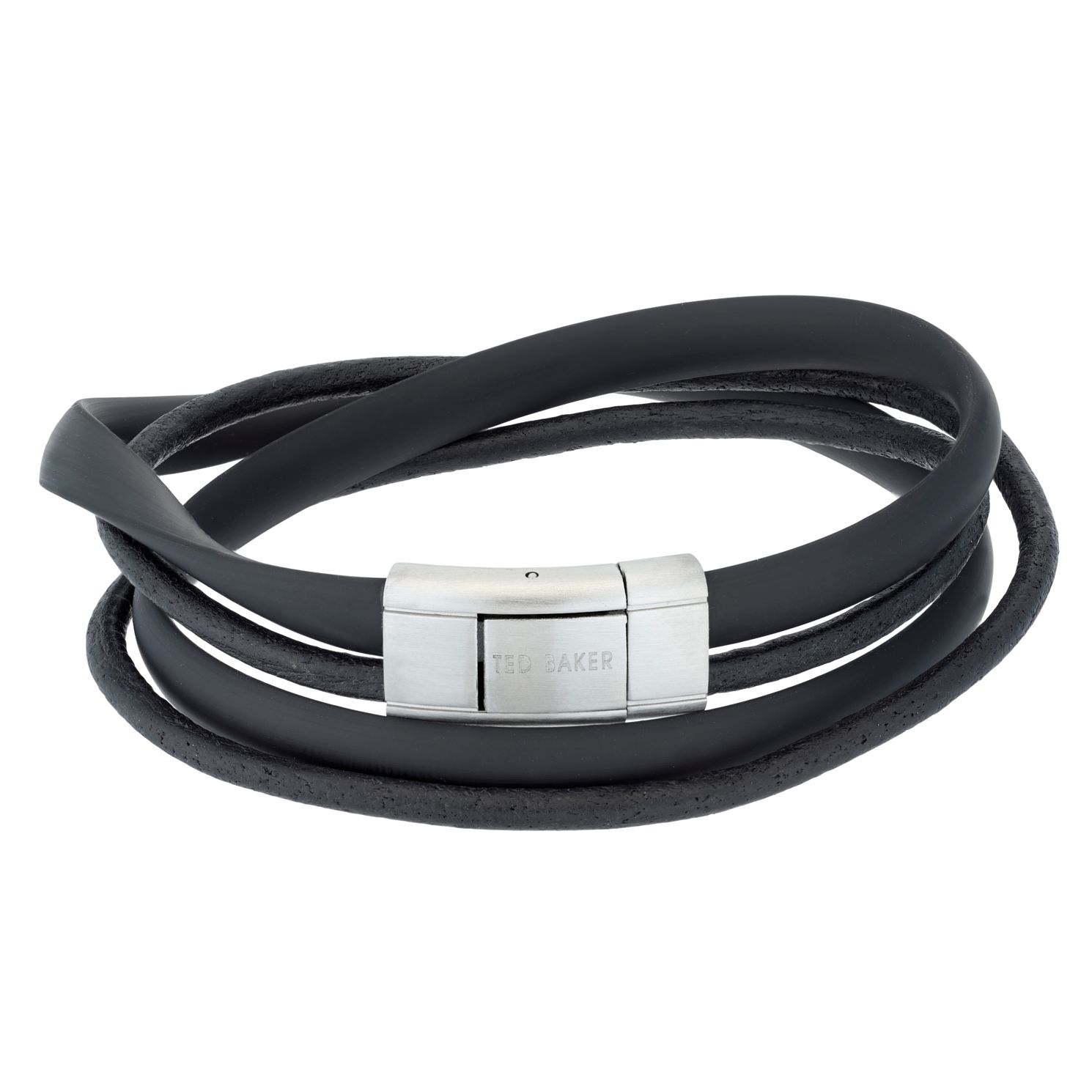 Ted Baker Men's Mera Black Leather Bracelet - Product number 4600797