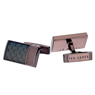 Ted Baker Bogard Men's Knurled Carbon Fibre Cufflinks - Product number 4600819
