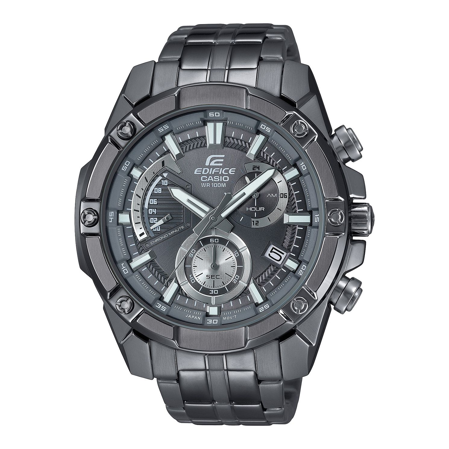 Casio Edifice Chronograph Gunmetal Steel Bracelet Watch - Product number 4600916