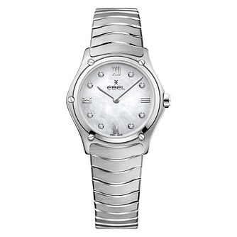 Ebel Sport Classic Ladies' Diamond Set Steel Bracelet Watch - Product number 4601483