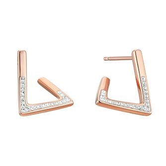 Evoke Rose Gold Plated Crystal Fancy Stud Earrings - Product number 4603222