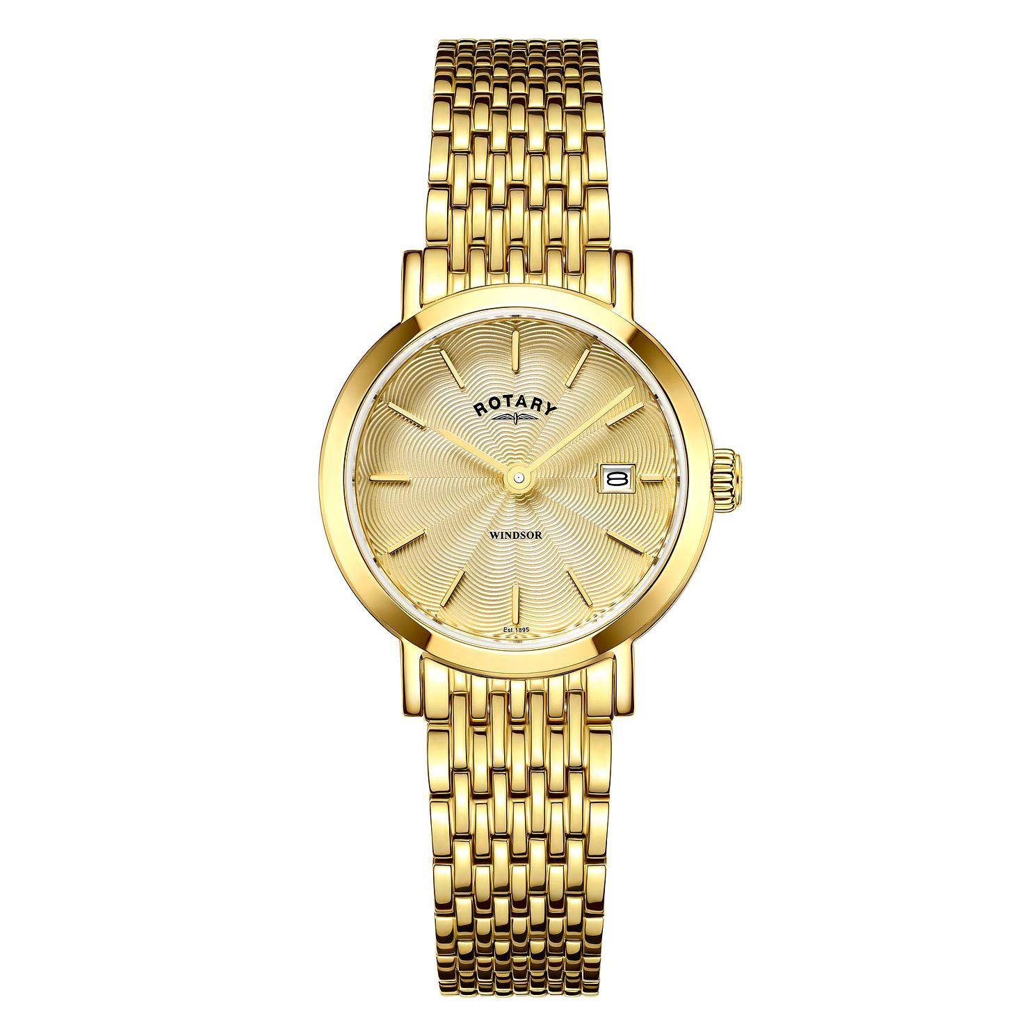 Rotary Windsor Ladies' Yellow Gold Plated Bracelet Watch - Product number 4603842