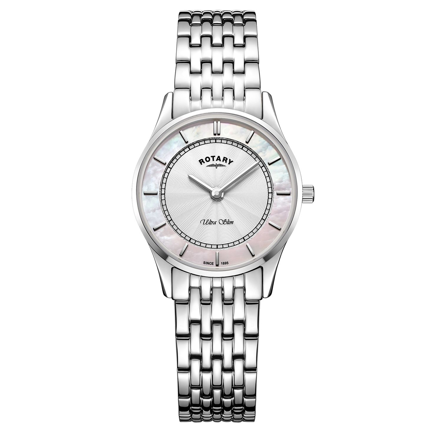 Rotary Ultra Slim Ladies' Mother Of Pearl Bracelet Watch - Product number 4603850