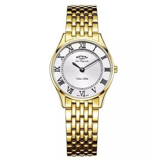 Rotary Ultra Slim Ladies' Yellow Gold Plated Bracelet Watch - Product number 4603869