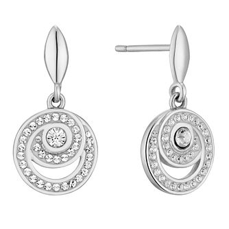 Evoke Rhodium Plated Crystal Spiral Drop Earrings - Product number 4604288