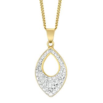 Evoke Yellow Gold Plated Crystal Marquise Pendant - Product number 4604490