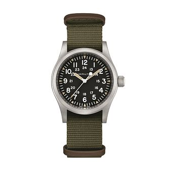 Hamilton Khaki Field Men's Green Strap Watch - Product number 4605020
