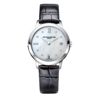 Baume & Mercier Classima Ladies' Leather Strap Watch Set - Product number 4605918