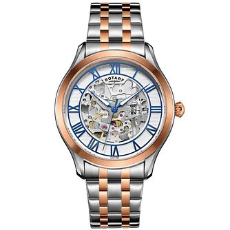 Rotary Men's 2 Colour Stainless Steel Bracelet Watch - Product number 4606906