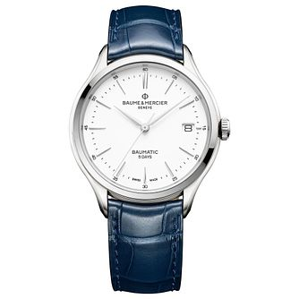 Baume & Mercier Clifton Baumatic Men's Blue Strap Watch - Product number 4607171