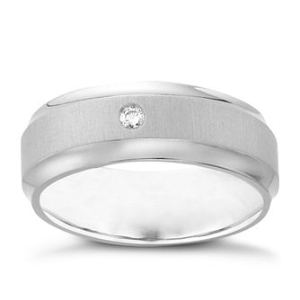 Titanium Diamond Ring - Product number 4607198