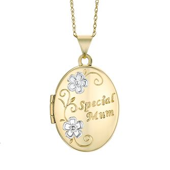 9ct Yellow Gold Special Mum Oval Locket - Product number 4607481