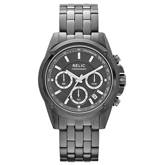 Relic Men's Chronograph Gunmetal Ion-Plated Bracelet Watch - Product number 4608631