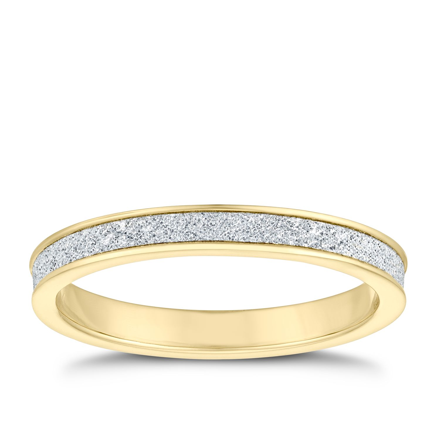 9ct Yellow Gold Glitter Ring - Product number 4609832