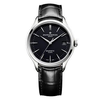 Baume & Mercier Clifton Baumatic Men's Black Strap Watch - Product number 4609859