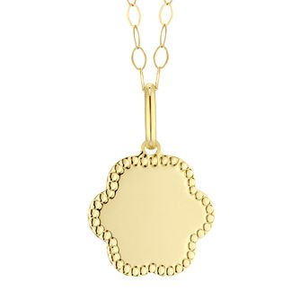 9ct Yellow Gold Flower Disc Pendant - Product number 4611322