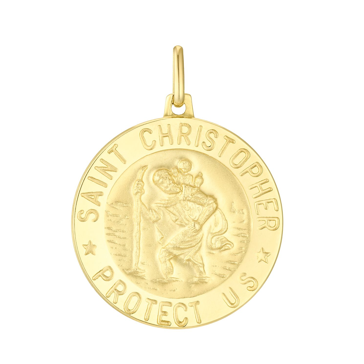 9ct Gold Large St Christopher Pendant (No Chain) - Product number 4611349