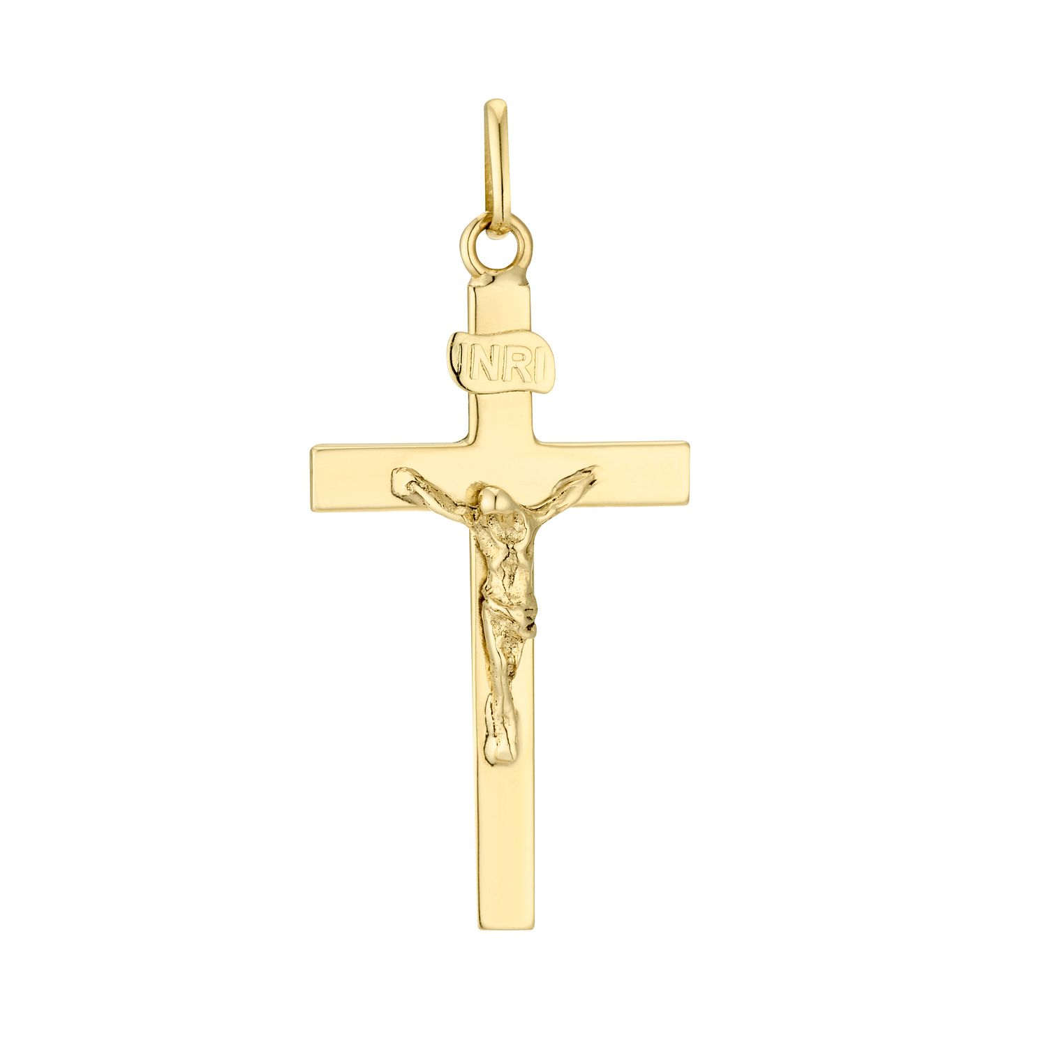 9ct Yellow Gold Crucifix Pendant - Product number 4611403